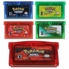 Pokemon Game Card Cartridge Emerald Ruby For Nintendo GBA/SP/GBM/NDS/NDSL