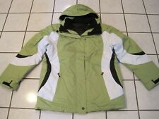 NWT WOMENS ST JOHNS BAY LIME GREEN AND BLACK SYSTEMS JACKET SIZE MEDIUM #76