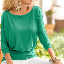 Fashion Womens Long Bat Sleeve T-Shirt Pullover Casual Loose Baggy Blouse Tops