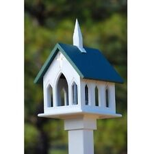 FANCY HOME PRODUCTS CHURCH BIRD FEEDERS AVAILABLE IN GREEN BLACK AND BLUE