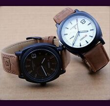 Casual Men's Classic Watches Sport Military Leather Strap Quartz Wrist Watch