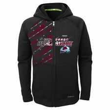 Colorado Avalanche Reebok Youth TNT PlayDry Full Zip Hoodie - Black - NHL