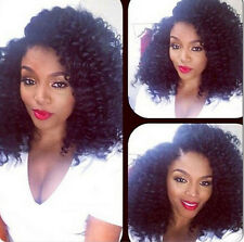 """8""""-24"""" Wig 100% Brazilian Remy Human Hair Curly Woman Lace Front/Full Lace Wigs"""
