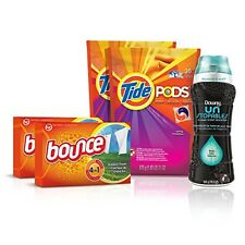 Tide Amazing Laundry Bundle (68 Loads): Tide PODS, Bounce Sheets and Downy