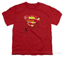 Youth: Superman - Super Mech Shield Apparel Kids T-Shirt - Red