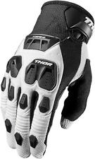 NEW THOR MX MENS ADULT MX ATV RIDING DEFEND BLACK WHITE RACE GLOVES RACING