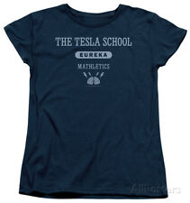 Womens: Eureka - Tesla School Apparel Ladies T-Shirt - Navy