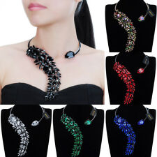 Fashion Jewelry Chain Crystal Collar Choker Charm Statement Pendant Bib Necklace