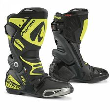 Forma Ice Pro Motorcycle Road Race Boots CE Approved Black/Yellow 2017 Model