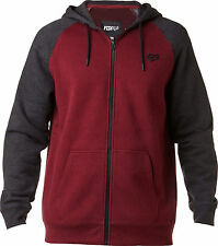 FOX RACING LEGACY HEATHER BURGUNDY ZIP FRONT HOODIE HOODY MENS ADULT SWEATSHIRT