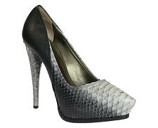 Lanvin high heels stiletto pumps with platform in black python skin