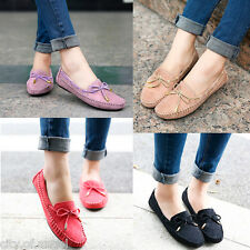 Womens Moccasins Slip On Shoe Slipper Loafers Bow- Knot Comfortable Pumps Casual