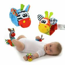 Baby Infant Gifts Hand Wrist Rattles Foots finders Socks Developmental Soft Toys