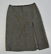 United Colors of Benetton Gray Wool Blend Skirt. Size 12. Made in Italy