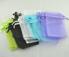 Wholesale HOT! Jewelry Wedding Gift Bags &Pouches Mixed Organza 12x9cm