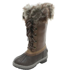 London Fog Little/Big Girl's Melton Brown Water Resistant Snow Boots Shoes