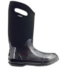 LADIES BOGS CLASSIC ROSEY TALL BLACK MULTI INSULATED WARM WELLINGTON BOOT 72032