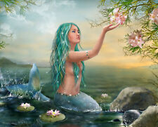 Home decor Fantasy Modern Mermaid Oil painting Picture Printed on canvas MRY99