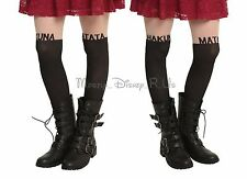 Disney The Lion King Hakuna Matata Faux Thigh High Tights Stockings Size S/M-M/L
