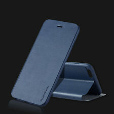 Slim Glossy Genuine Leather Cover Flip Stand Pouch Case For Samsung/iPhone/LG