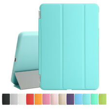 Magnetic Slim Genuine Leather Smart Cover Hard Back Case for Apple iPad 2 3 4