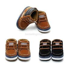 0-12M Newborn Toddler Baby Infant Boy Girl Soft Sole Crib Shoes Boots NEW