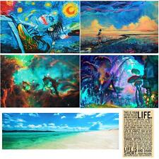 Psychedelic Trippy Art Fabric Silk Poster Print Home Decor 24x36inch/24x77inch