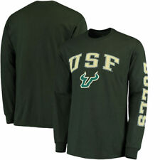 South Florida Bulls Distressed Arch Over Logo   W/ Sleeve Hit T-Shirt