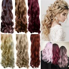 """Extra Thick 17-28"""" Clip In Hair Extensions Full Head Long 1Pcs Hair Extension UK"""
