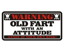 Old Fart Warning Decal Funny Gloss Vinyl Hard Hat Window Bumper Sticker WX4
