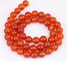 1Bunch Delicate Translucent Red Agate Round Loose Bead Pendant Necklace Jewelry