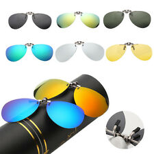 UK Driving Polarized UV400 Lens Clip-on Flip-up Myopia Glasses SunGlasses