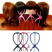 Folding Plastic Stable Durable Wig Hair Hat Cap Holder Stand Display Tool