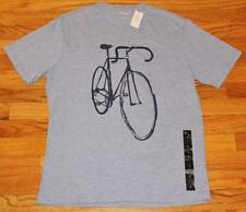 NEW NWT Mens Banana Republic Graphic Logo Tee T-Shirt Bicycle Bike Drawing *4A