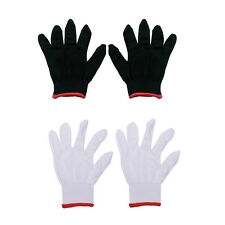 12 Pairs Nylon Safety Coating Work Gloves Builders Grip Protect S M L Lvds