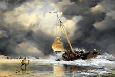 HD Canvas Print Sea storms are coming oil painting printed on canvas L1252