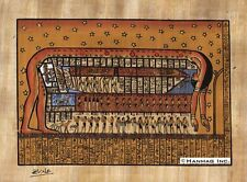"Egyptian Papyrus Painting - Goddess Nut 8X12"" + Hand Painted #23 + Description"