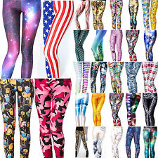 Graphic Printed Womens Leggings Pants Yoga Sports Casual Jegging Skinny Trousers