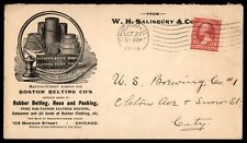 Chicago Il Boston Belting Co. Salisbury & Co 1894 Advertising Cover