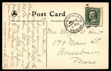 Tow & Catons Jul 19 1910 Balto Md Single Franked Rpo Cancel On Post Card To Ma