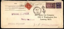 SALES CORP PITTS PA AUG 1940 SPEC DELIV PMK CANCEL ON AD COVER TO MI POSTAGE DUE