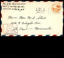 1944 APO May 22 postal stationery cover censored to St. Paul