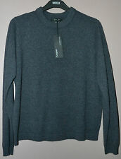 LADIES M&S AUTOGRAPH CASHMERE WITH SILK JUMPER - CHARCOAL - SIZE 14 - BNWT