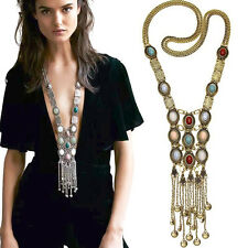 Hot 1Pc Women Long Chain Necklace Body Chain Multi-layer Charm Pendant Jewelry