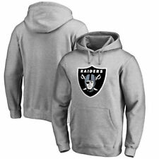 Oakland Raiders Primary Logo Big & Tall Pullover Hoodie - Heather Gray - NFL