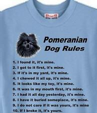 Dog T Shirt Pomeranian Dog Rules 5 Colors Great Gift # 588 Adopt Rescue