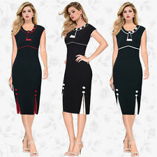 Women Sleeveless Sheath Pencil Dress Work Office Cocktail Midi Pencil Dress Plus