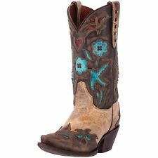 Dan Post Western Boots Womens Vintage Bluebird Ortho Beige DP3538