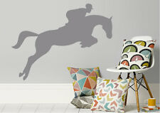 Animal Wall Stickers Horse Jump Vinyl Decal 15 Colours 01601