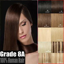 8 PCS Premium Clip In Human Hair Extensions Remy 100% Real Human Thick Hairpiece